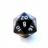 1x Black D20(twenty-sided) Die