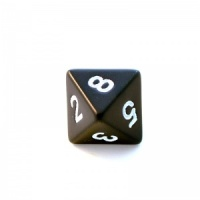 1x Black D8 (eight-sided) Die