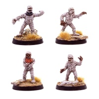 Dwarven Mummy Pack (4 Miniatures)