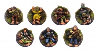 Halfling Adventurers (Pack of 7 Sleeping/Dead)