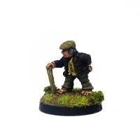 Halfling with Flat Cap and Stick