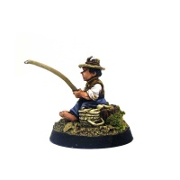 Halfling with Fishing Rod