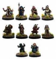 Halflings - A Class of Their Own (Set of 10 Female Halflings)