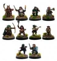 Halflings - A Class of Their Own (Set of 10 Male Halflings)
