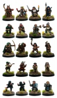 Halflings - A Class of Their Own (Set of 20 Halflings)