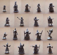The Village of the Witches  (Set of 9 Witches and 9 Villagers)