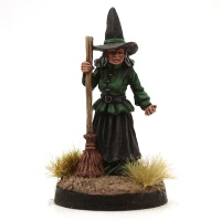 Witch with Broomstick - Sister Strangeblight